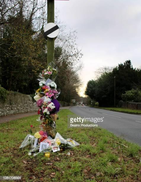 Roadside memorial, speed limit