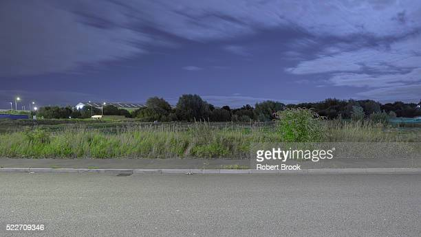 roadside - industrial district stock pictures, royalty-free photos & images