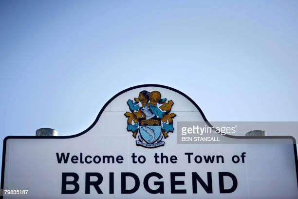 A roadside sign with the words 'Welcome to the town of Bridgend' is pictured in south Wales on January 30 2008 Another teenage girl is thought to...