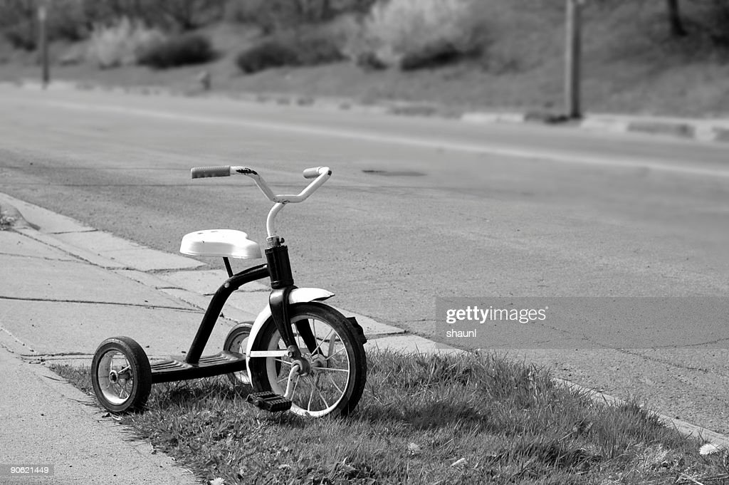 Roadside Tricycle : Stock Photo
