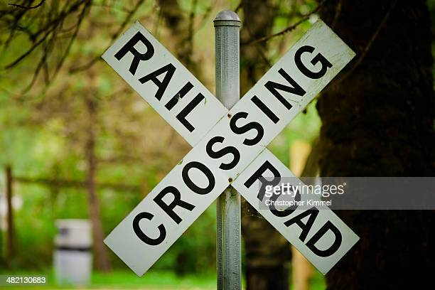 roadsigns - railroad crossing stock pictures, royalty-free photos & images