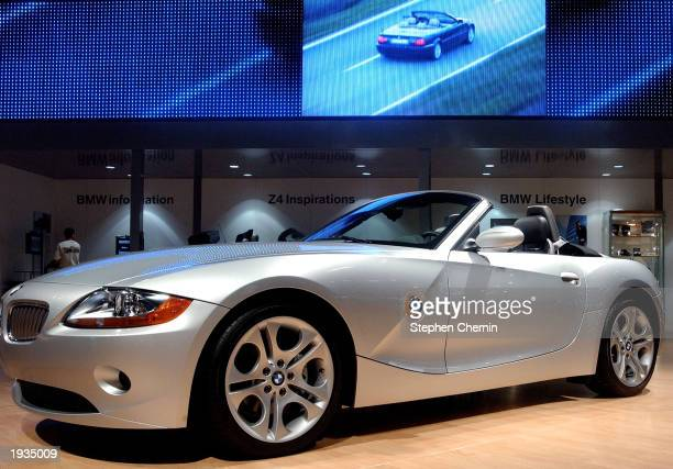 Roadster is seen at the 2003 New York Auto Show April 16, 2003 at the Javits Center in New York City. The Roadster features a six-cylinder,...
