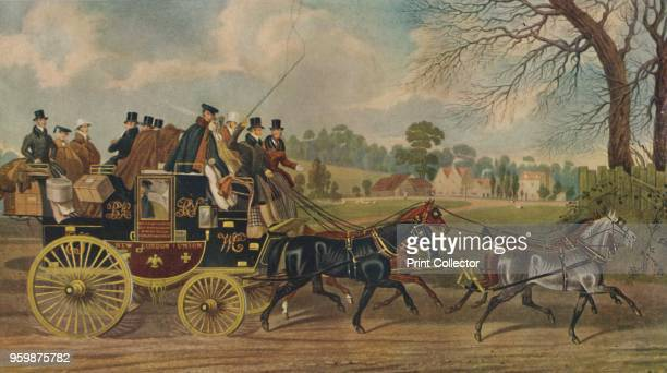 Roadsters, New London Union Coach', circa 1840, . From The Story of British Sporting Prints, by Captain Frank Siltzer. [Halton & Truscott Smith, Ltd,...