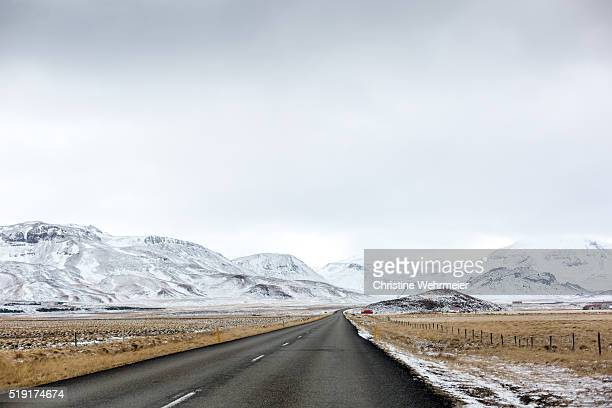 roadtrip - on the road in west iceland in winter - christine wehrmeier stock pictures, royalty-free photos & images