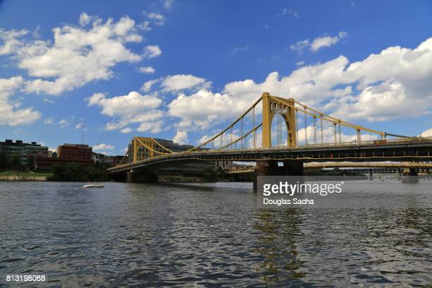 Roadway Bridge over the River, Pittsburgh, Pennsylvania, USA