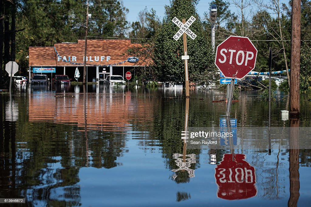 Remnants Of Hurricane Matthew Cause Inland Flooding In Parts In North Carolina : News Photo