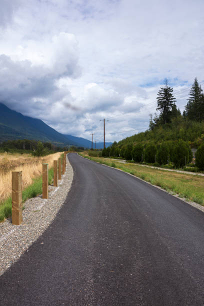 Roadway near site of 2014 Oso mudslide, Oso, Washington, USA