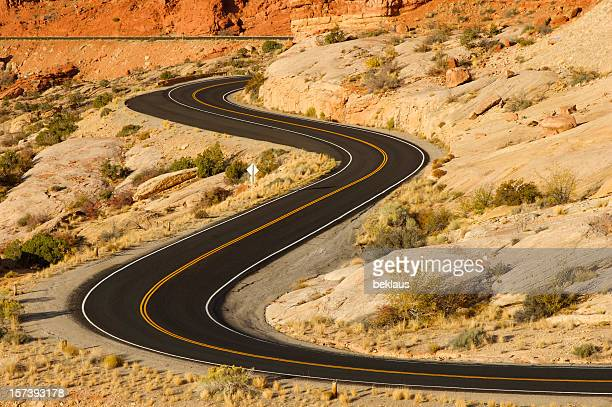 Roadway system of the Utah desert