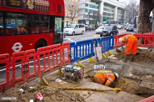 Roadworks in London