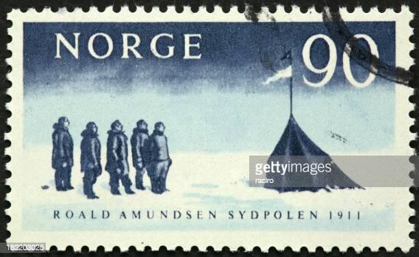 Roald Amundsen primeiro para o Pólo Sul