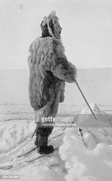 Roald Amundsen in Polar Kit photo plate from The South Pole An Account of the Norwegian Antarctic Expedition in the Fram 191012