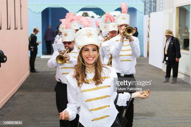 Roaming entertainment at Derby Day at the 2018 Melbourne Cup Carnival