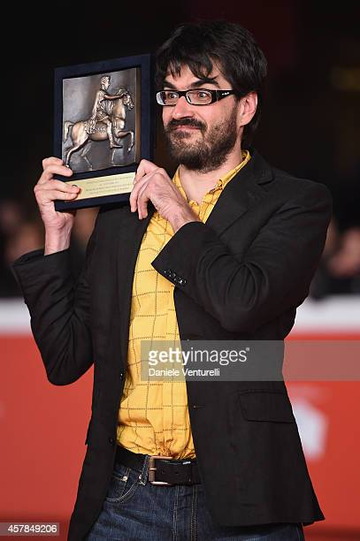 Roan Johnson attends the Award Winners Red Carpetl during the 9th Rome Film Festival at Auditorium Parco Della Musica on October 25, 2014 in Rome,...