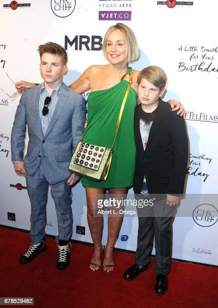 Roan Joseph Bronstein Sharon Stone and Laird Vonne Stone arrives for the Premiere Of Penny Black Promotions' A Little Something For Your Birthday...