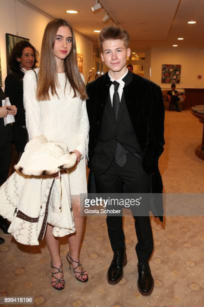Roan Joseph Bronstein son of Sharon Stone and Martina Tomasini during the charity gala benefiting 'Planet Hope' foundation at Kempinski Grand Hotel...