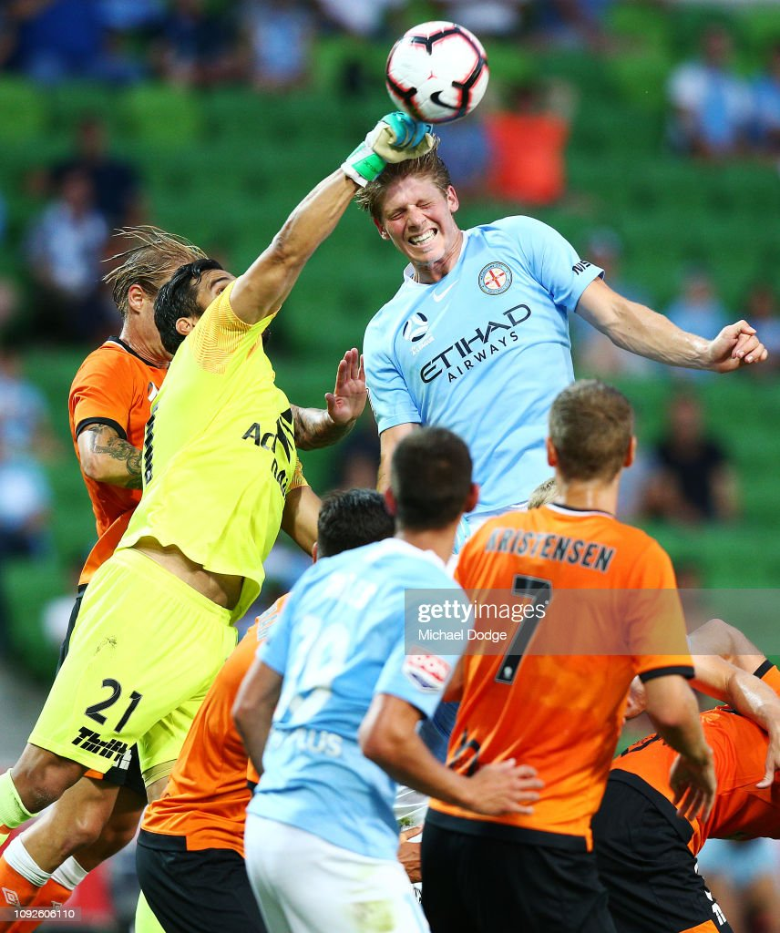 A-League Rd 13 - Melbourne v Brisbane : News Photo