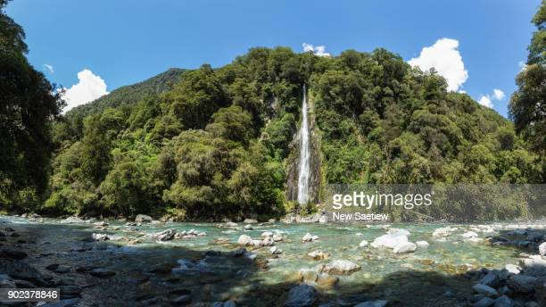 Roaring Billy Falls Haast at South Island of New Zealand.