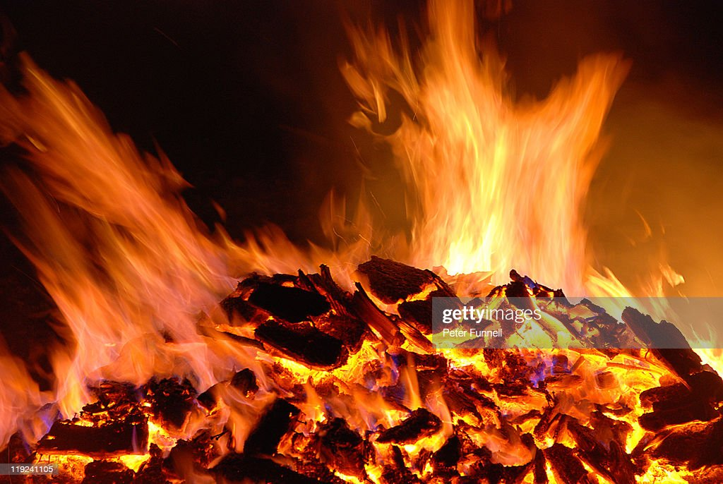 Roaring flames : Stock Photo