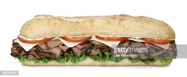 roast beef sandwich - grinder sandwich stock pictures, royalty-free photos & images