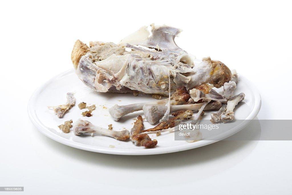 Roast Chicken Carcass : Stock Photo