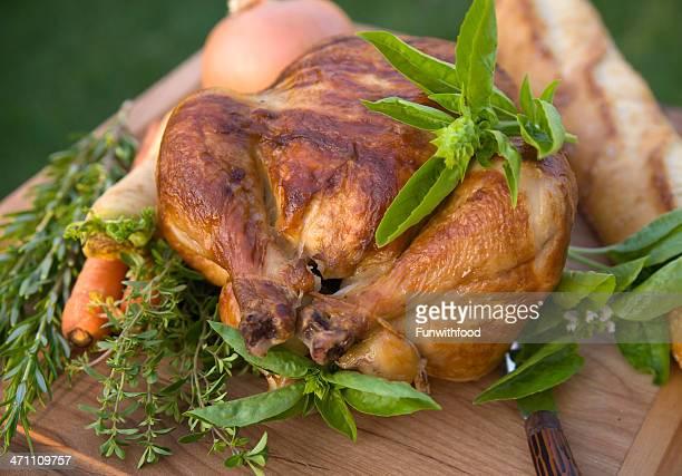 Roast Chicken Meal or Thanksgiving Turkey, Christmas Holiday Dinner & Herbs