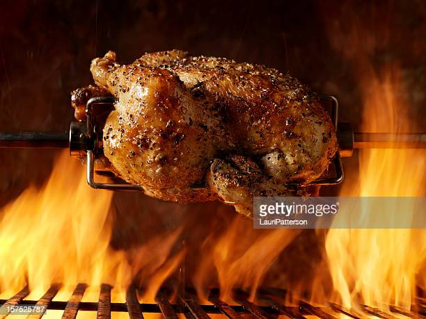 Pollo arrosto sul barbecue