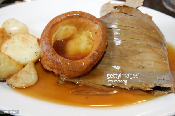 A roast dinner at the Old White Lion Hotel