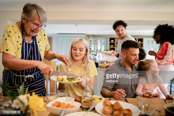 roast dinner is ready! - roast dinner stock pictures, royalty-free photos & images