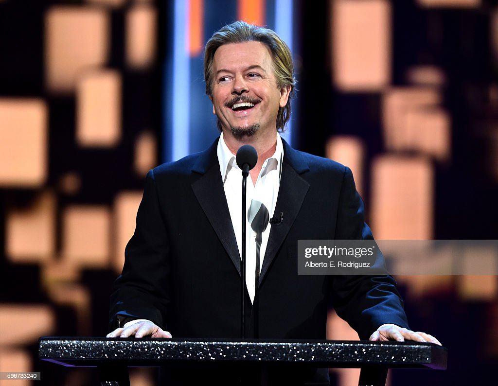 Roast Master David Spade speaks onstage at The Comedy Central Roast of Rob Lowe at Sony Studios on August 27, 2016 in Los Angeles, California. The Comedy Central Roast of Rob Lowe will premiere on September 5, 2016 at 10:00 p.m. ET/PT.