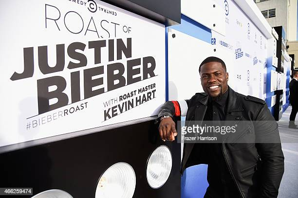 Roast Master Kevin Hart attends The Comedy Central Roast of Justin Bieber at Sony Pictures Studios on March 14 2015 in Los Angeles California