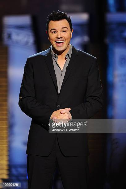 Roast Master Seth MacFarlane performs onstage at the Comedy Central Roast Of Donald Trump at the Hammerstein Ballroom on March 9 2011 in New York City