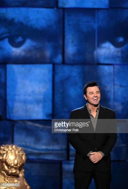 Roast Master Seth MacFarlane speaks onstage at Comedy Central's Roast of Charlie Sheen held at Sony Studios on September 10, 2011 in Los Angeles,...