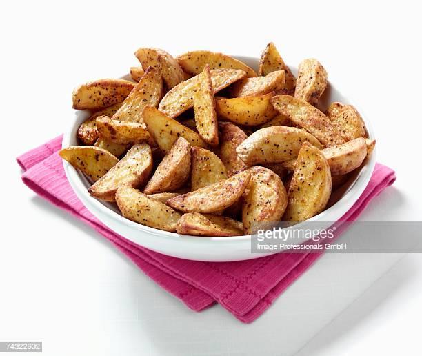 Roast potato wedges