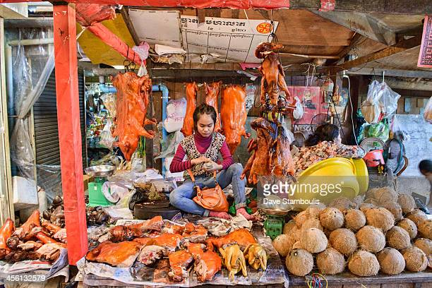 CONTENT] roast suckling pig vendor in the Russian Market Phnom Penh Cambodia