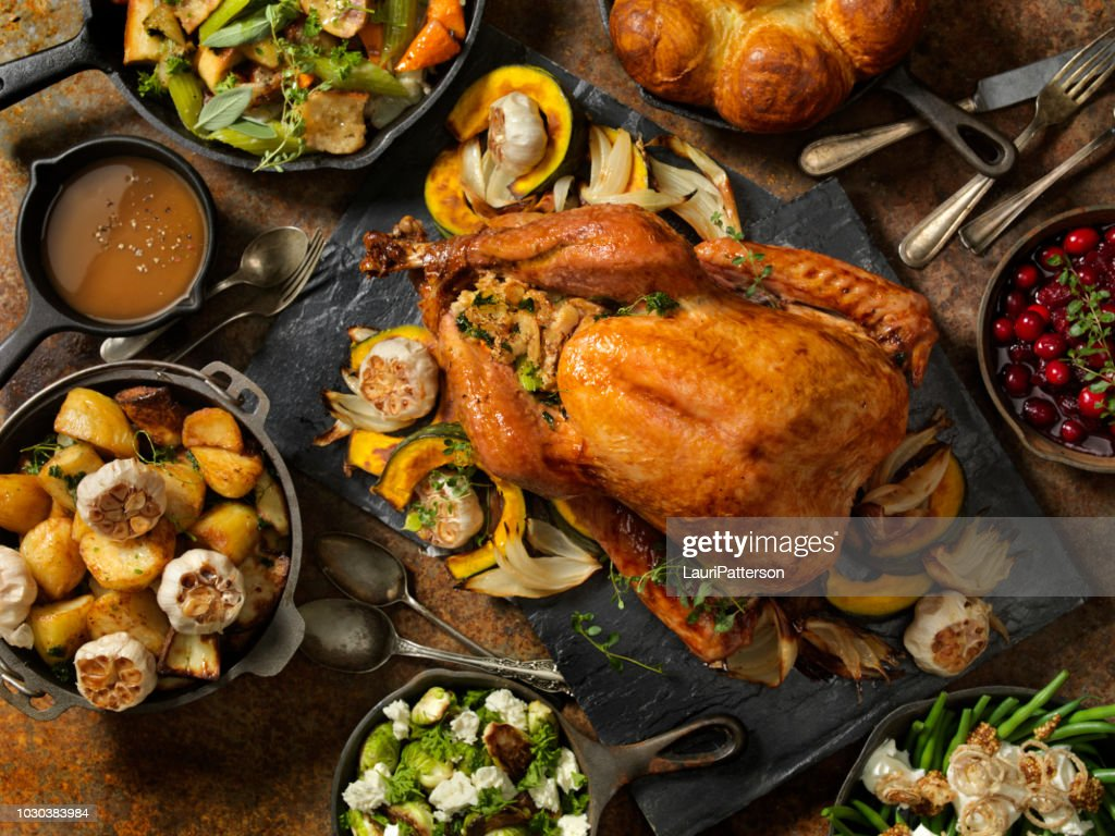 Roast Turkey Dinner : Stock Photo