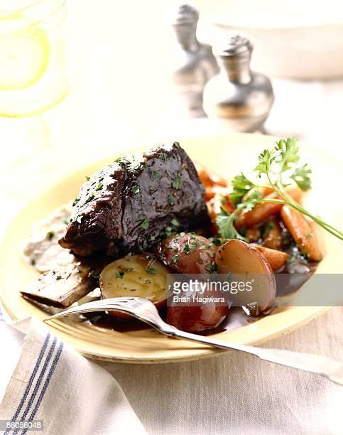 Roast venison shank