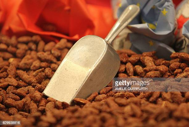 Roasted almonds are pictured at the Christmas marked in Heidelberg southern Germany on December 15 2016 / AFP / Amelie QUERFURTH
