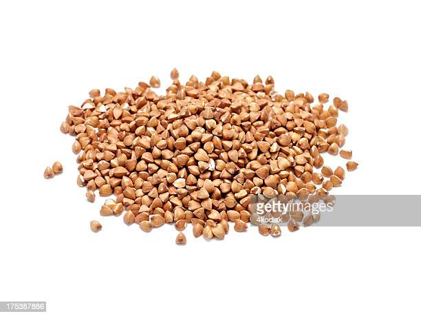 roasted buckwheat - buckwheat stock pictures, royalty-free photos & images