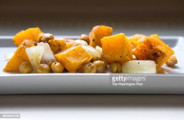 Roasted butternut squash and chickpeas are photographed for the Nourish column Wednesday October 3 2012 in Vienna VA