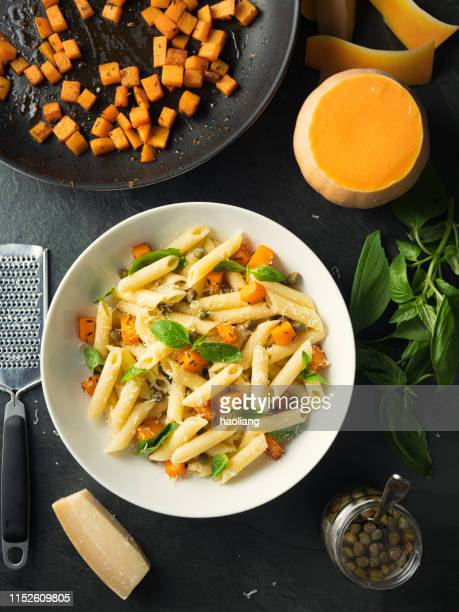 roasted butternut squash with penne pasta salad