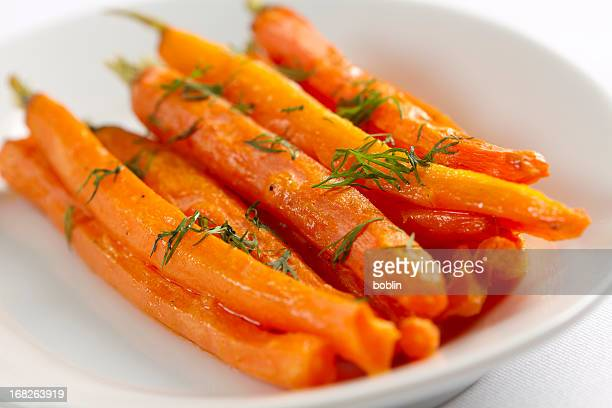 roasted carrots with dill - roasted stock pictures, royalty-free photos & images
