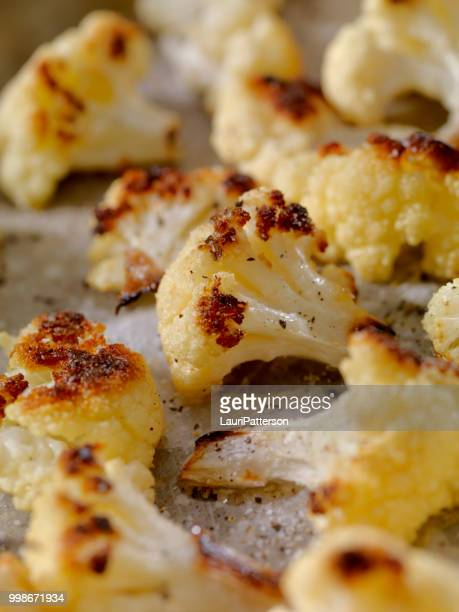 roasted cauliflower - roasted stock pictures, royalty-free photos & images