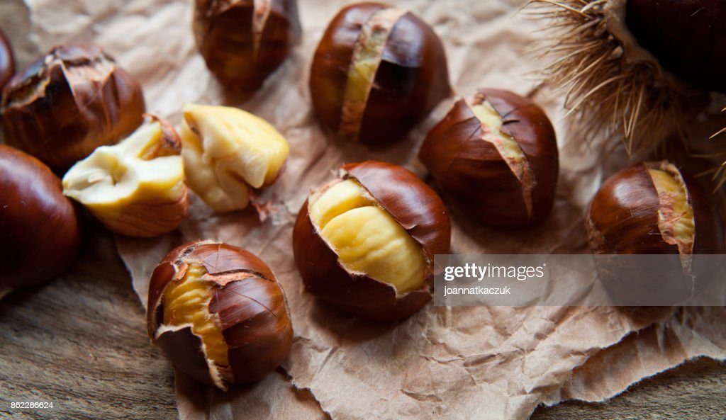 Roasted Chestnuts for Christmas : Stock Photo