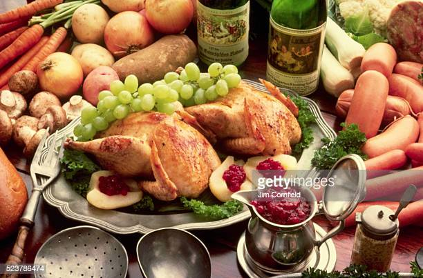 Roasted Chicken and Fresh Ingredients