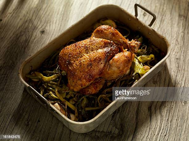 Roasted Chicken with Asparagus and Leeks