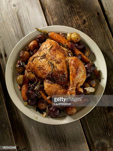 Roasted Chicken with Carrots and Potatoes