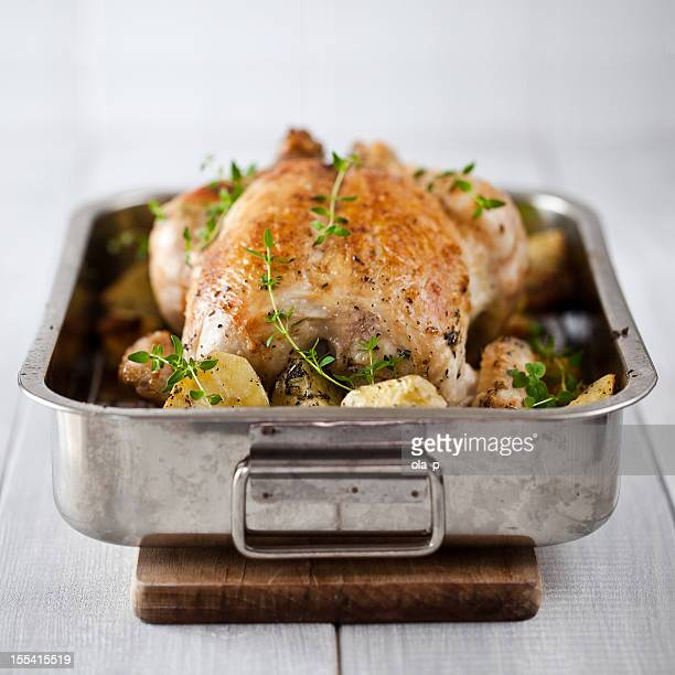 Roasted chicken with potatoes