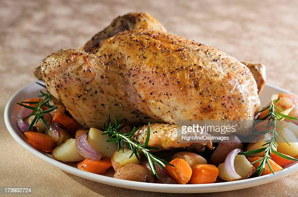 Roasted Chicken with Vegetables and Rosemary