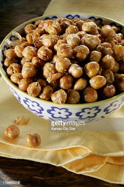 Roasted chickpeas are healthy highfiber snack food
