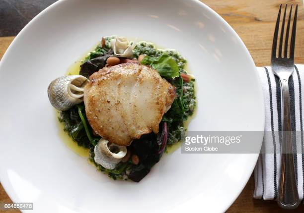 Roasted Hake is pictured at Mida a restaurant in Boston's South End on Mar 29 2017